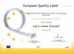 Label de qualité européen